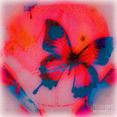 Abstract Image Of A Butterfly Digital Art - Fly High by Caroline Gilmore
