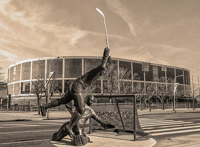 Flyers Hockey - Philadelphia Spectrum Print by Bill Cannon