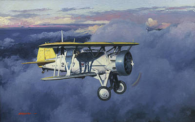 Us Marine Corps Painting - Flying Chief by Wade Meyers