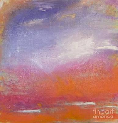 Tangerine Painting - Flying High by Hollis Fortune