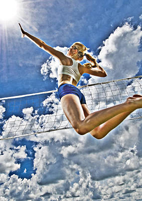 Volleyball Photograph - Flying High by Steve Williams