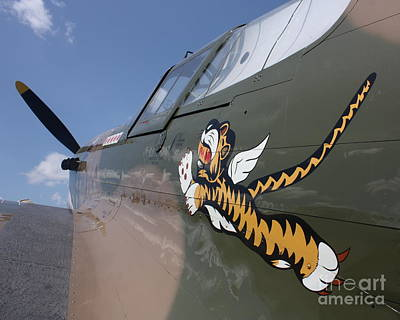 Noseart Photograph - Flying Tiger Noseart by Bill Lang