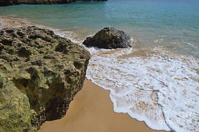 Beach Photograph - Foam Meets Sand by Angelo DeVal