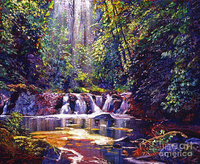 Foaming Water Forest Print by David Lloyd Glover
