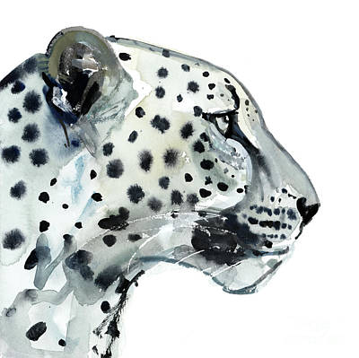 Leopard Drawing - Focus by Mark Adlington
