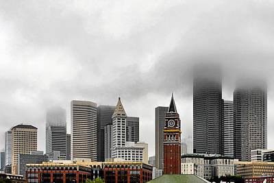 Central Photograph - Fog Accents Of Seattle Wa by Christine Till