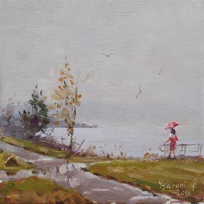 Fog And Rain At Gratwick Waterfront Park Original by Ylli Haruni