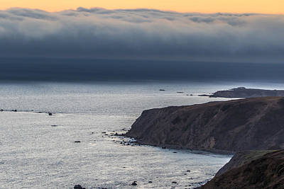 Fog Bank At Sunset Print by Marc Crumpler