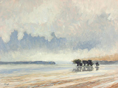 Lakefront Painting - Fog Between The Storms by Anthony Sell