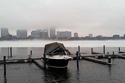 Fog Cover On The Charles River Print by Toby McGuire