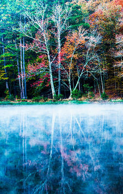 Autumn Landscape Photograph - Fog On The Lake by Parker Cunningham