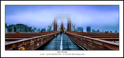 Streetscape Photograph - Fog Over The Brooklyn Poster Print by Az Jackson