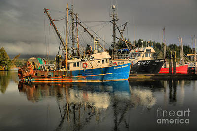 Fog Over Ucluelet Fishing Port Print by Adam Jewell