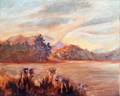Asheville Painting - Fog Rising Over Biltmore Lake by Lisa Blackshear