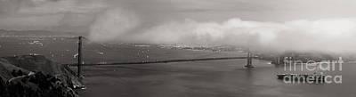 Alcatraz Photograph - Foggy Golden Gate by Matt Tilghman
