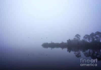 Foggy Morning Fly By Print by Joan McCool