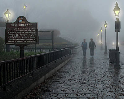 Foggy Morning In New Orleans Print by Mitch Spence