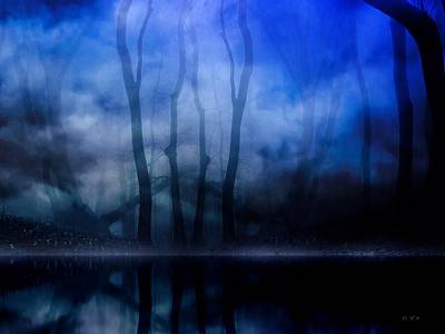 Royalty Free Images Mixed Media - Foggy Night by Gabriella Weninger - David