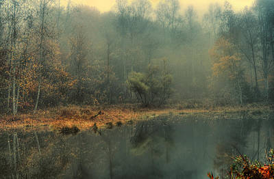 Kentucky Photograph - Foggy Pond 2 by J PhotoArt