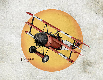 Fokker In The Sun 3 Original by Larry Scarborough
