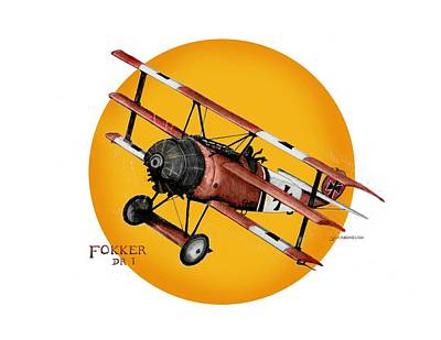 Fokker In The Sun Too Original by Larry Scarborough