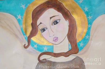 Folk Angel Print by Sacred  Muse