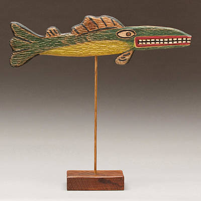 Folk Art Fish Print by James Neill