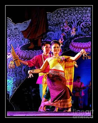 Traditional Folk Dance Digital Art - Folk Dancing Of Isaan by Ian Gledhill