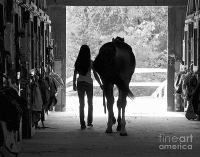 Black_white Photograph - Follow Me by Cathy Fitzgerald