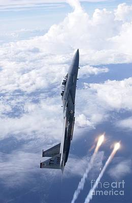 Usaf Painting - Follow The Flares Usaf by Celestial Images