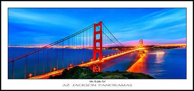 California Ocean Photograph - Follow The Golden Trail Poster Print by Az Jackson
