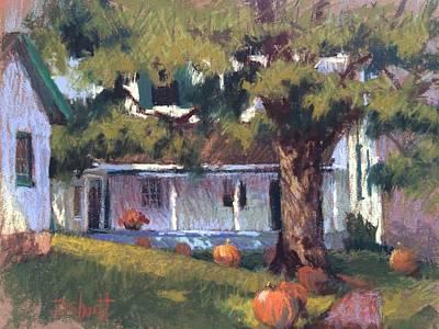 Follow The Pumpkins Print by Donna Shortt