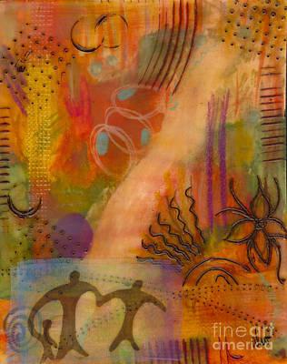 Follow The Yellow Brick Road Print by Angela L Walker