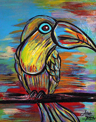 Toucan Mixed Media - Follow Your Nose by Artista Elisabet