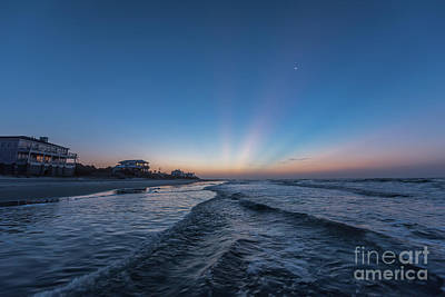 Moon Photograph - Folly Sun Rays by Robert Loe