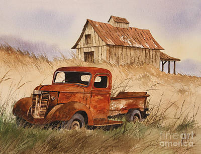 Old Trucks Painting - Fond Country Memories by James Williamson