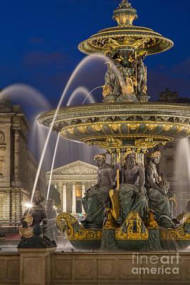 France La Madeleine Photograph - Fontaine Des Fleuves by Brian Jannsen