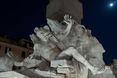 Fontana Dei Quattro Fiumi Iv Print by Fabrizio Ruggeri