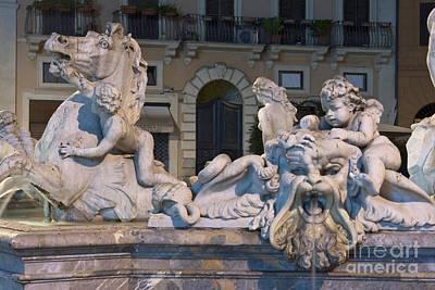 Fontana Del Nettuno II Print by Fabrizio Ruggeri