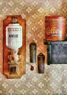 Food - Let's Have Some Kaffee Print by Mike Savad
