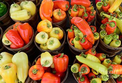 Food - Peppers Print by Paul Ward