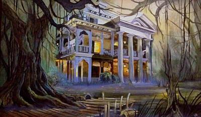 Haunted Mansion Painting - Foolish Mortals by John  Alexopoulos