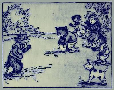 Raccoon Mixed Media - Football In The Park by Bill Cannon