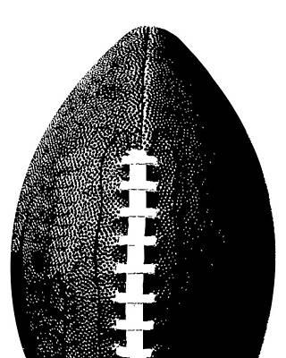 Sports Digital Art - Football Poster Black White by Flo Karp