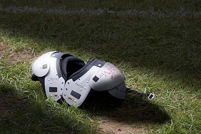 Shafts Photograph - Football Shoulder Pads by Tom Mc Nemar