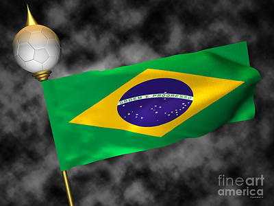 Digital Photograph - Football World Cup Cheer Series - Brazil by Ganesh Barad