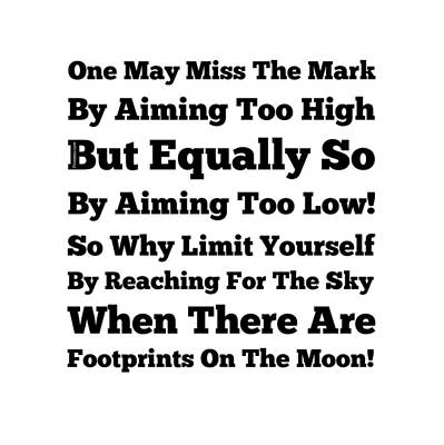 Footprints On The Moon Print by Firsttees Motivational Artwork