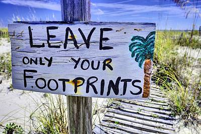 Footprints Only Print by JC Findley