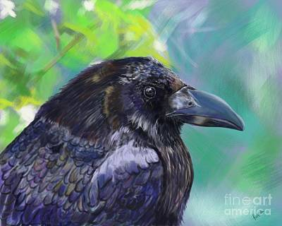 For Ever More The Raven Print by Barb Kirpluk