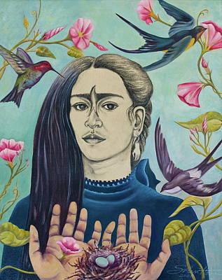 Swallowing Painting - For Frida by Sheri Howe